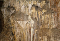 Karst formations in the cave. Royalty Free Stock Photos