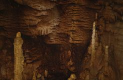 Karst formations in the cave. Stock Photos