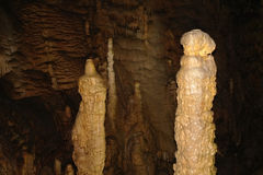 Karst formations in the cave. Royalty Free Stock Images