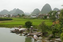 Karst Hills of Rural Guilin Royalty Free Stock Photos