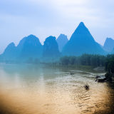 Karst hills scenery in guilin, China Royalty Free Stock Photography