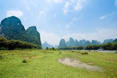 Karst landform scenery in guilin Stock Photos