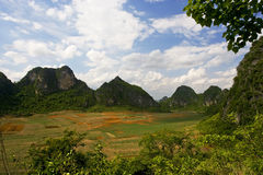 Karst Landforms view Royalty Free Stock Photos