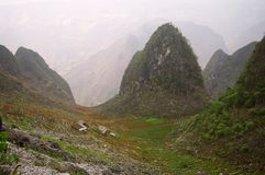 Karst landscape. Typical karst landscape of northern Vietnam. Area of Ha Giang Royalty Free Stock Images