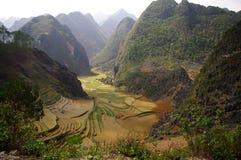 Karst landscape. Typical karst landscape of northern Vietnam. Area of Ha Giang Stock Photo