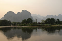 Karst landscape. In the near Vang Vieng in Laos from, Asia Stock Images
