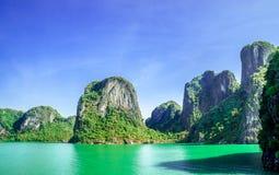 Karst landscape by Halong bay Stock Photo