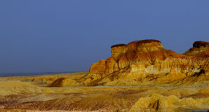 Karst limestone. This is Karst topography shot in Burqin, Xinjiang。 It is called Wu Cai Tan, which means colorful beach stock images