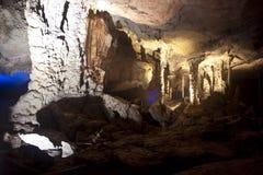 Karst limestone Tham Kong Lo cave Royalty Free Stock Image