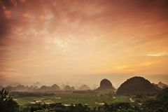 Karst Mountain Landscape Stock Image