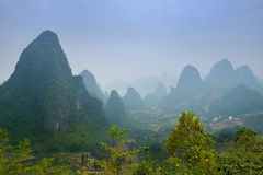 Karst mountain landscape of Guilin Royalty Free Stock Photos