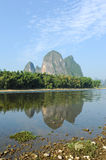 Karst mountain landscape in Yangshuo Guilin, Stock Image