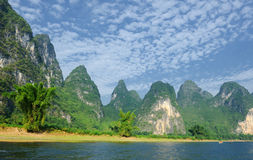 Karst mountain landscape in Yangshuo Guilin, Stock Photography
