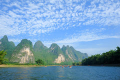 Karst mountain landscape in Yangshuo Guilin, Stock Images