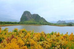 Karst mountain landscape in Yangshuo Guilin, China Stock Photography