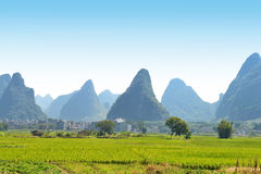 Karst mountain landscape in Yangshuo Guilin, China Stock Photo