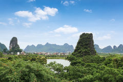 Karst mountain scenery Royalty Free Stock Photography