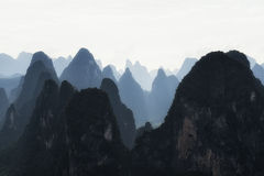 The karst mountain tops Royalty Free Stock Photography