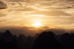 The karst mountain tops Stock Image