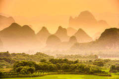 Karst Mountains of China Stock Images