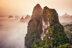 Karst Mountains of China Stock Photos
