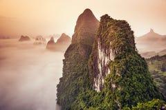 Karst Mountains of China Stock Photos