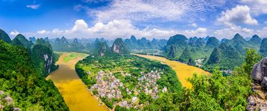 Karst Mountains in Guilin,China. Guilin, Guangxi, China karst mountains on the Li River Royalty Free Stock Images