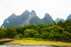 Karst Mountains in Guilin, China Stock Image