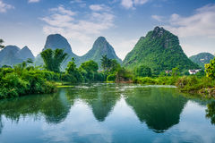 Karst Mountains of Guilin Royalty Free Stock Photography