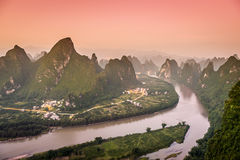 Karst Mountains Landscape Stock Photos