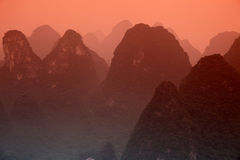Karst mountains at Li river Stock Photography