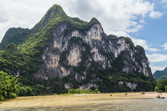 Karst mountains and limestone peaks of Li river in   China Stock Photos