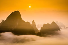 Karst Mountains Stock Image