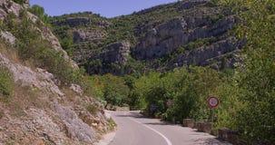Karst nature road stock video