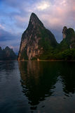 Karst Peak at the Li River. Yangshuo, China Royalty Free Stock Images