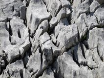 Karst rock in the Alps Stock Images