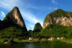 Karst Scene. And rural China Royalty Free Stock Image