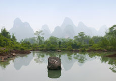 Karst scenery in Guangxi province, China Stock Photography