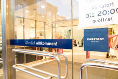 Karstadt entrance Stock Photos