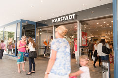 Karstadt entrance Stock Image