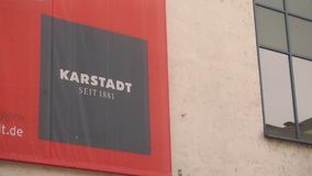 Karstadt flag stock video footage