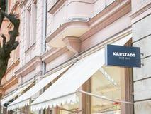 Karstadt tecken Royaltyfri Bild