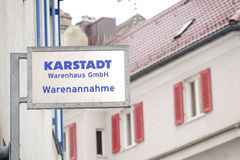 Karstadt Warenannahme Stock Photography