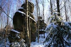 Karstanordnungen â Stolowe Berge - Polen Stockbilder