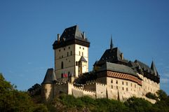 Karstejn. Castle Karlstejn. Build by Karel IV. - emperor Stock Images