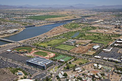 Karsten Golf Course and Tempe Town Lake Royalty Free Stock Photo