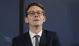 KARSTEN LAURITZEN_MINISTER PER LA TASSA ED IL REDDITO Immagine Stock