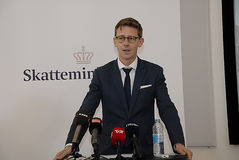 KARSTEN LAURITZEN_MINISTER TAXATION AND REVUNE Stock Images