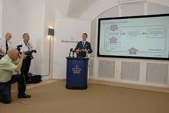 KARSTEN LAURITZEN_MINISTER TAXATION AND REVUNE Royalty Free Stock Photo
