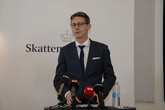 KARSTEN LAURITZEN_MINISTER TAXATION AND REVUNE Stock Images
